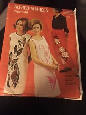 Vintage 1960's Alfred Shaheen Dress Skirt Sewing Pattern UNCUT Szs 6-18 Groovy!