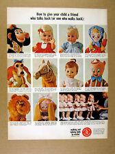 1965 Mattel Walking & Talking Dolls 11 Doll Models photo vintage print Ad