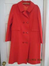 Women's vintage coat  size 13/14 reddish orange pre-owned