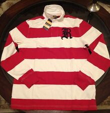 Ralph Lauren Rugby Polo Long Sleeve Shirt Sz Small #10 Logo Back New W Tags Red