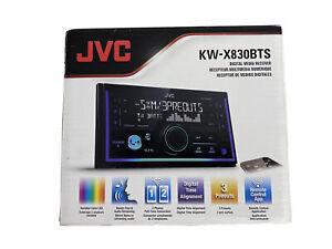 JVC KW-X830BTS Double DIN USB Bluetooth Digital Media Receiver - Black