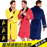 Star Trek Captain Kirk Robe Unisex Cosplay Pajamas Soft Plush Nightgown Bathrobe