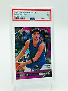 2020-21 Prizm Draft Picks Deni Avdija PURPLE ICE Rookie Card /149 PSA 5 Wizards