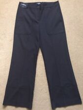NEXT Tailoring Women's Stretch Wide Black Trousers, Size UK14R, £42
