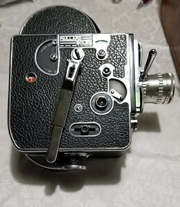 RARE VINTAGE PAILLARD BOLEX H16 16mm MOVIE CAMERA W/ CASE Straps Berthiot Lytar