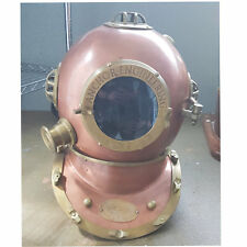 "18 "" Solid Brass Diving Helmet Nautical U.S Navy Divers Mark V Maritime"