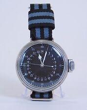 Vintage Hamilton GCT 24 Hour Military Wristwatch Converted Pocket Watch HW509