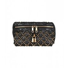 MARC JACOBS THRASH STUDDED SNAKESKIN CLUTCH BLACK