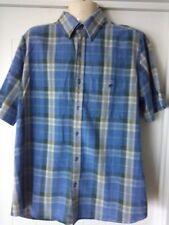 Mens Camel Shirt, Short Sleeves. M, Plaid / Check, 100% Cotton