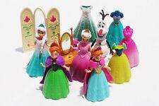 disney frozen Anna Elsa princess play house Dress Up dolls Olaf 11pcs