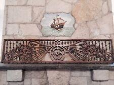 Antique pine fretwork