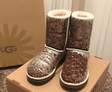 UGG AUSTRALIA CLASSIC SEQUIN BOOTS WOMENS SIZE 8