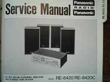 PANASONIC RE-8420 8-Track Tape Amplifier Service manual wiring parts diagram