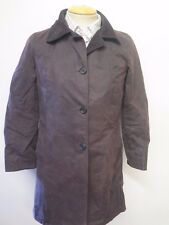 Ladies Barbour Georgina Waxed Cotton Coat Jacket UK 12 Euro 38 - Brown