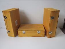 3 X GIFT BOXES WOODEN MEDIUM PLAIN -MULTI USES ART AND CRAFT DECORATE YOUR OWN