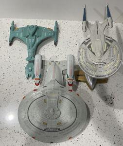 Star Trek Next Generation Playmates Ship Lot!  NCC-1701-D & E And Klingon  Ships