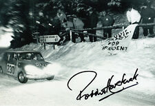 Paddy Hopkirk Hand Signed Mini Cooper Photo 12x8 12.