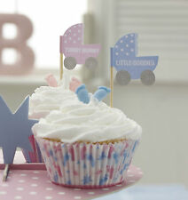 20 CUPCAKE BUN FLAG Table Decoration for Baby Shower, Christening etc
