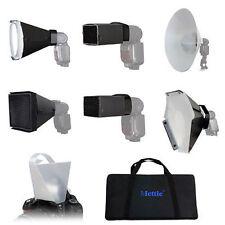 7in1 Speedlight Vorsatz-Set mit Tasche / Lichtformer-Set für Aufsteckblitz