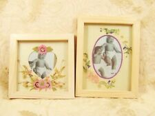 Wood Pressed Flower Wildflower Photo Frame Set Frames Heart Oval