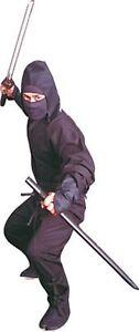6 pc Traditional Black Ninja Ninjitsu Uniform Outfit Costume Suit Gear Mask