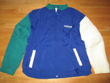 Vintage Adidas (Silver Label) Nylon Lined (XL) Windbreaker Jacket BLUE & GREEN