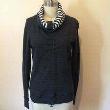 Lululemon In a Citch Long Sleeve Reversible Top Pullover Stripe Gray/White