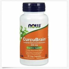 NOW CurcuBrain 400 mg 50 Veg Capsules - NEW