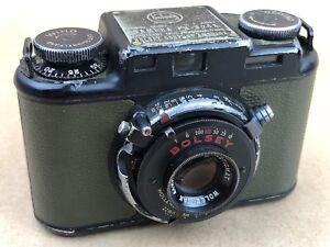 Bolsey PH-324A Green Olive U.S.Army Camera w/ 44mm f/3.2 Wollensak #95567 - Rare