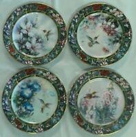 Lot of 4 Hummingbird Collectors Plates~Lena Liu's Hummingbird 1992 #1#2#3#4 NEW
