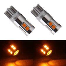 2Pcs Amber CANBUS T10 OSRAM 3030 9 SMD Car Auto LED Light Bulbs 12V 194 192 158