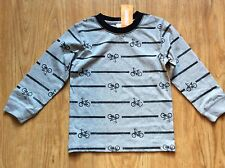 Gymboree NWT Toddler Boys Grey Long Sleeve T-Shirt w/Bicycles Sz 3T