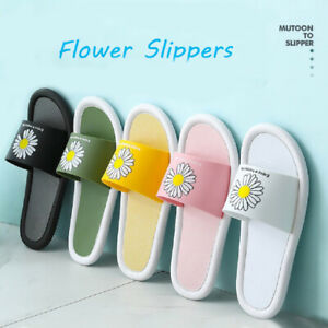 Summer Flower Slippers Little Daisies Floral Slippers Beach Casual Sandals Women