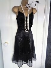 French Connection silk 1920's beaded flapper style dress UK 8 US 4 EU 36 Gatsby
