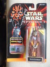 STAR WARS Silas Carson Signed Star Wars Nute Gunray NEAR MINT!