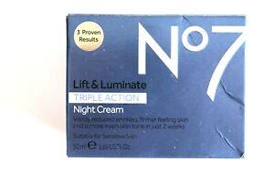 No7 Lift & Luminate Triple Action NIGHT Cream - 50ml