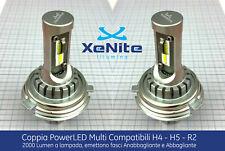 H5 R2 LED 2x LAMPADE CANBUS PER AUTO&CAMION KIT OMOLOGATO XENON 6500K + T10 TOP