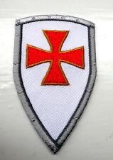 P4 Knights Templar Shield Iron on Patch Crusader St George Biker Crusade Cross