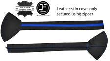 "BLUE STRIPE LEATHER PADDED 30"" SHIFT BOOT FOR KENWORTH PETERBILT FREIGHTLINER"