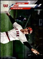 Carlton Fisk 2020 Topps Short Print Variations 5x7 #388 /49 Red Sox