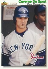 356 DON MATTINGLY NEW YORK YANKEES  BASEBALL CARD UPPER DECK 1992
