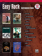 """""""EASY ROCK INSTRUMENTAL SOLOS"""" FLUTE MUSIC BOOK/CD-BRAND NEW ON SALE SONGBOOK!!"""