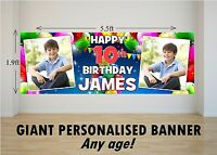 Personalised GIANT Large Happy Birthday Banner N34 10th 13th 16th 18th 21st