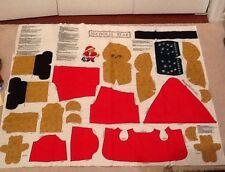 Vintage Nicholas Bear Christmas Fabric Project Panel w/ Instructions