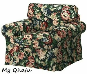 New Ikea EKTORP Chair Slipcover Lingbo Multicolor Floral 204.028.93 (Cover Only)