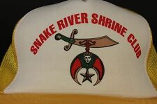 NEW Snake River Shrine Club Trucker Hat Cap Mesh Snap Back Shriners VTG