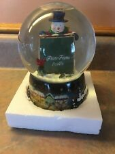 Water Globe Snown Globe Snowman Photo Frame