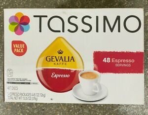 Gevalia 48-Count Espresso T DISC for Tassimo Beverage System BEST BY Early 2021