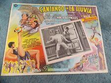 SINGING IN THE RAIN(1952)GENE KELLY DEBBIE REYNOLDS ORIG MEXICAN LOBBY CARD