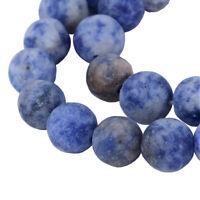 45 Edelsteine Perlen Sodalite Blau Matt 8mm Natur Schmucksteine A Grade G757#3